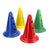 Four small sports cone markers. Use with poles to create hurdles.