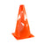 Single bright orange collapsible Pop Up sports training marker cone.