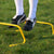 Mini hurdle in football fitness training. 15cm height.