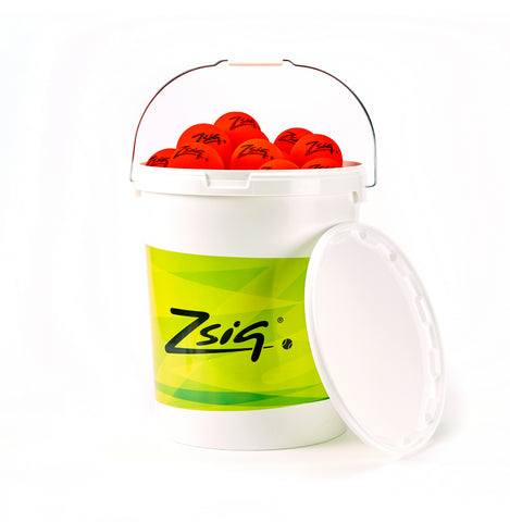 ZSIG bucket of 4 dozen Tough Guy 8cm Mini Tennis Balls