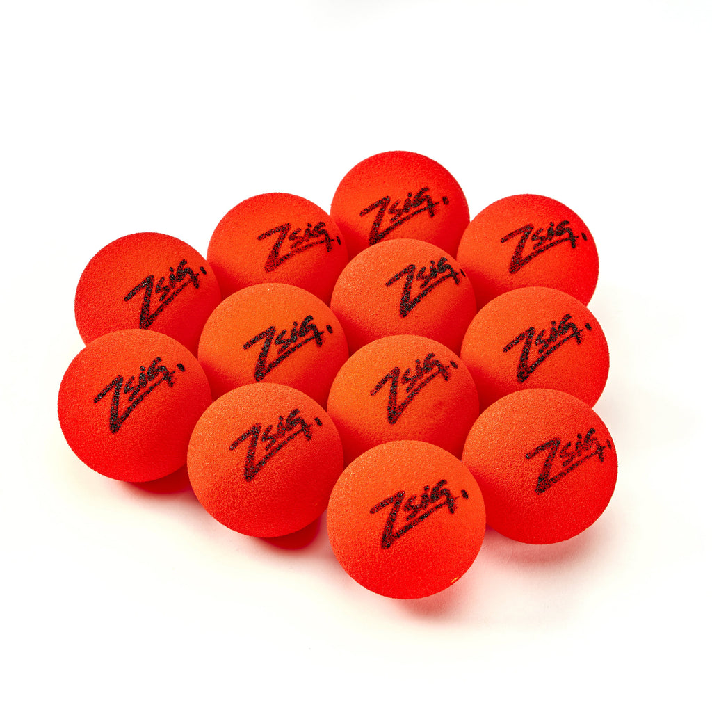 ZSIG Tough Guy 8cm pick-resistant red foam ball in dozens.