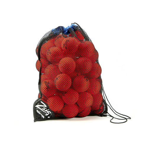 ZSIG Tough Guy 8cm Mini Tennis Balls in a drawstring net carry bag