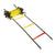 Agililty ladder, 8m, soft rungs, bright yellow with red marked end. Velcro links to join ladders.
