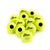 Training Tennis Balls. A dozen Zsig Black Dot yellow tennis balls.