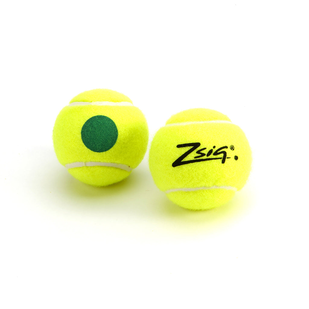Zsig Green Dot Mini Tennis Ball. Single ball.