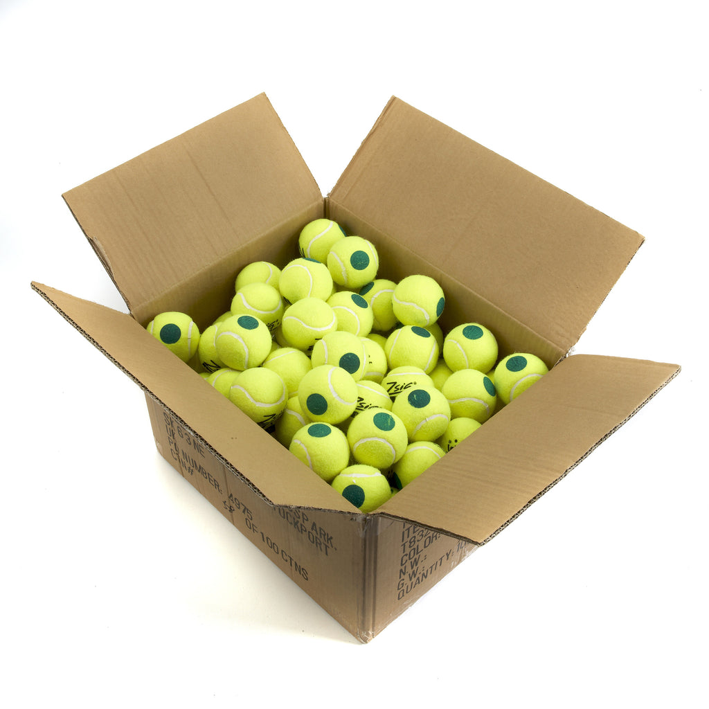 Zsig Green Dot Mini Tennis Balls. Carton of 10 Dozen balls.