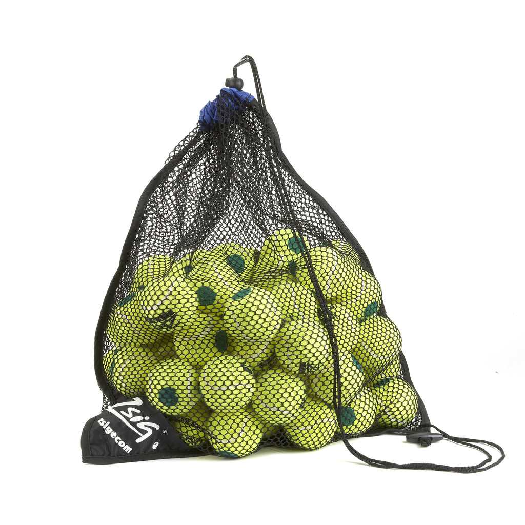 Green Dot Mini Tennis Balls. 5 Dozen Ball Carry Bag.