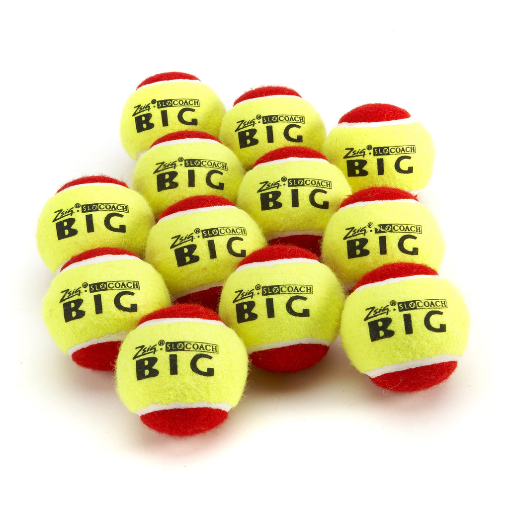 A dozen Slocoach Big Red Mini Tennis Balls from Zsig