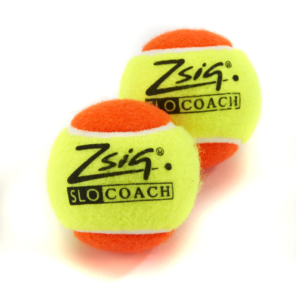Two Zsig Slocoach Orange Mini Tennis Balls