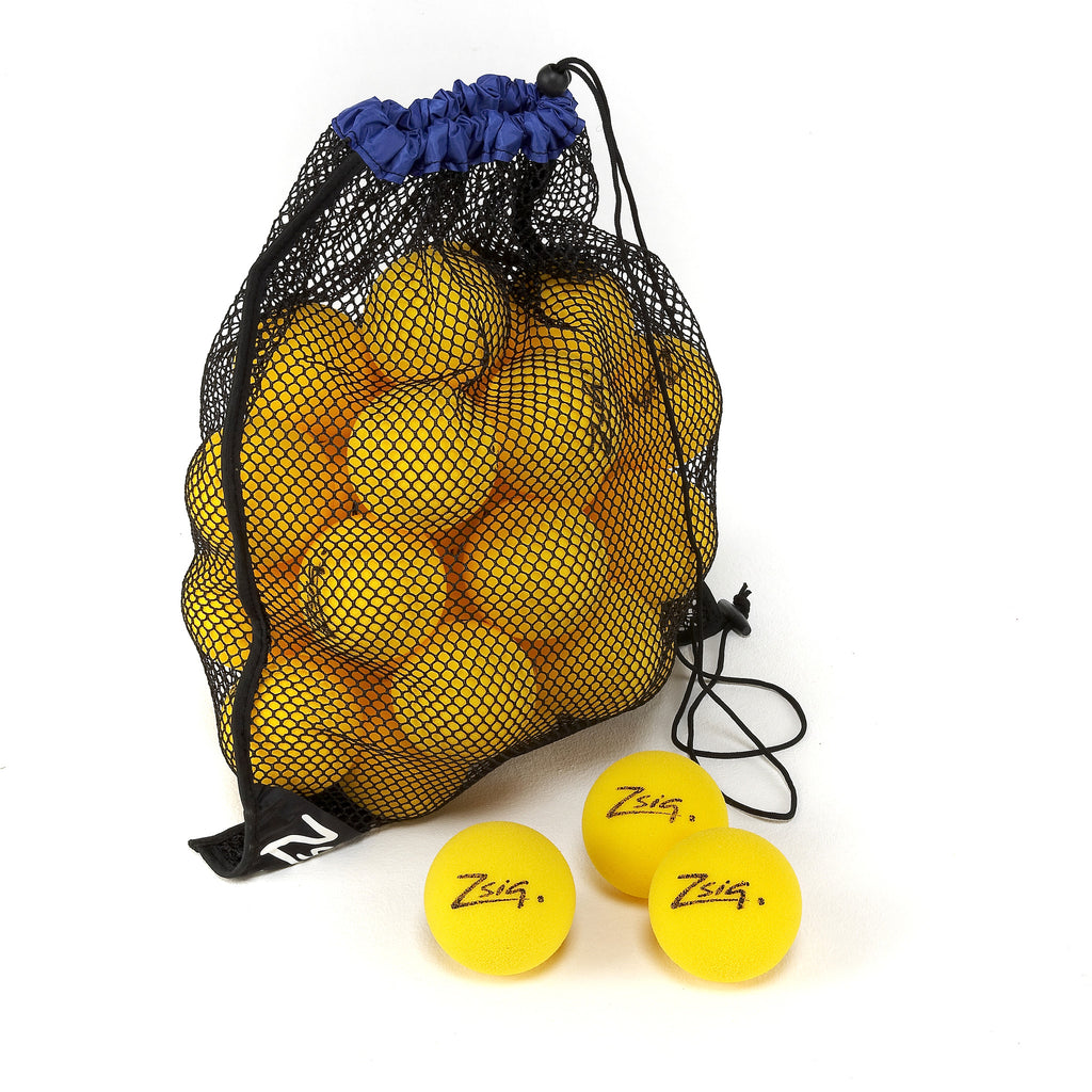 Mini Tennis Ball 5-dozen drawstring carry bag. Matchplay 8 sponge balls.