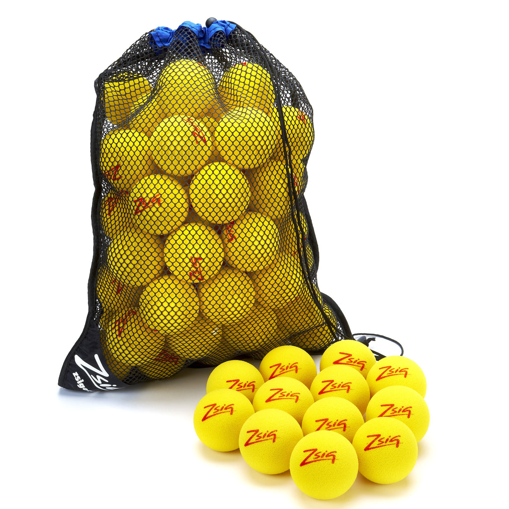 Mini Tennis Red Stage 3 Practice 8cm cut foam ball - Bag of 60 balls.