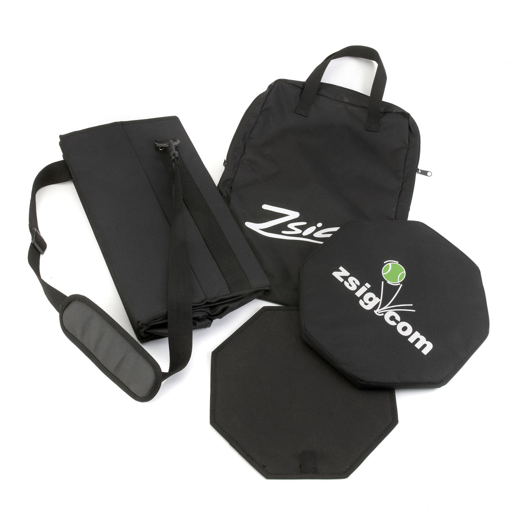 Coaching Aid. Tennis Ball Bucket Bag folds flat, and fits neatly inside its own carry bag.