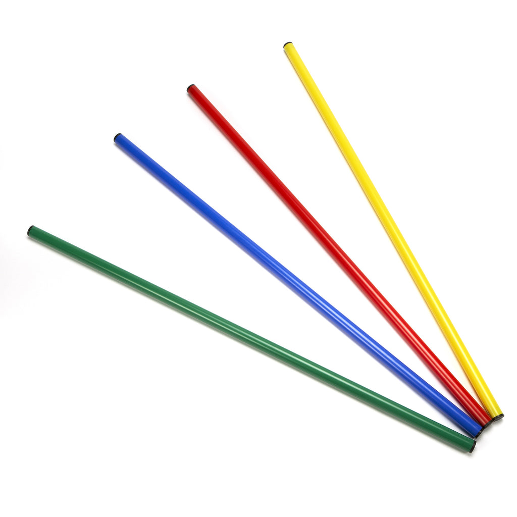 Sports Coaching Poles. Use as hurdles with cones, or with clips & hoops to create targets.