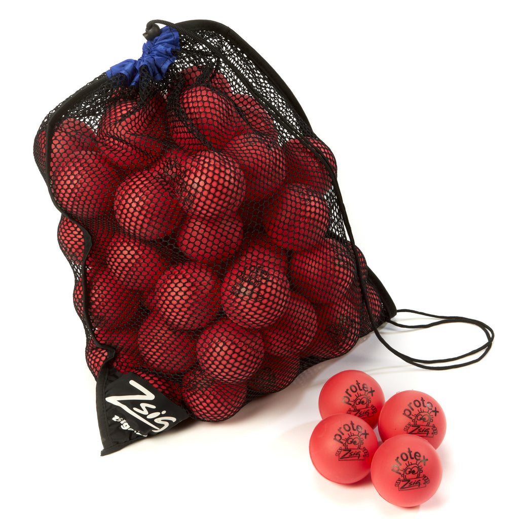 Mini Tennis Red Stage 3 Protex 8cm - 60 balls in a carry bag.