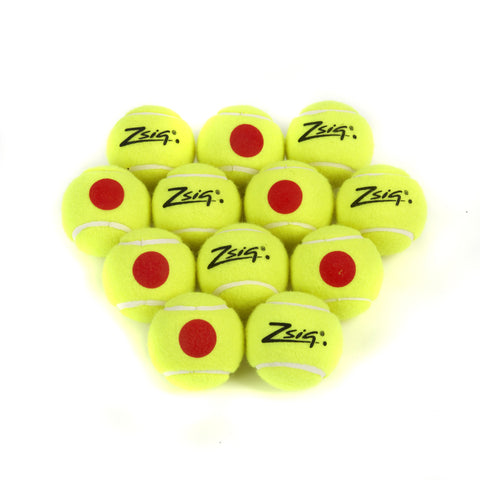 Mini Tennis | Orange Stage | Orange Dot Balls | Dozen (12)