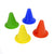 Sports Marker Cones. 4 Bendy Mini Marker Cones: red, green, orange, blue