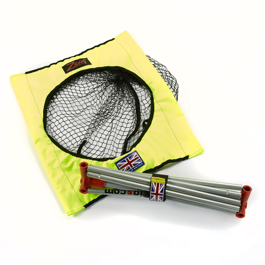 Tennis Coaching Aid - Zsig portable Target Trainer is light, easy to carry and folds up neatly into a small bundle.