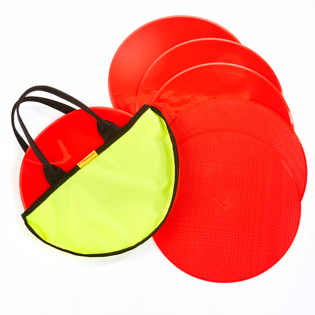 Throw Down Spots | 30cm Set of 6 | Red