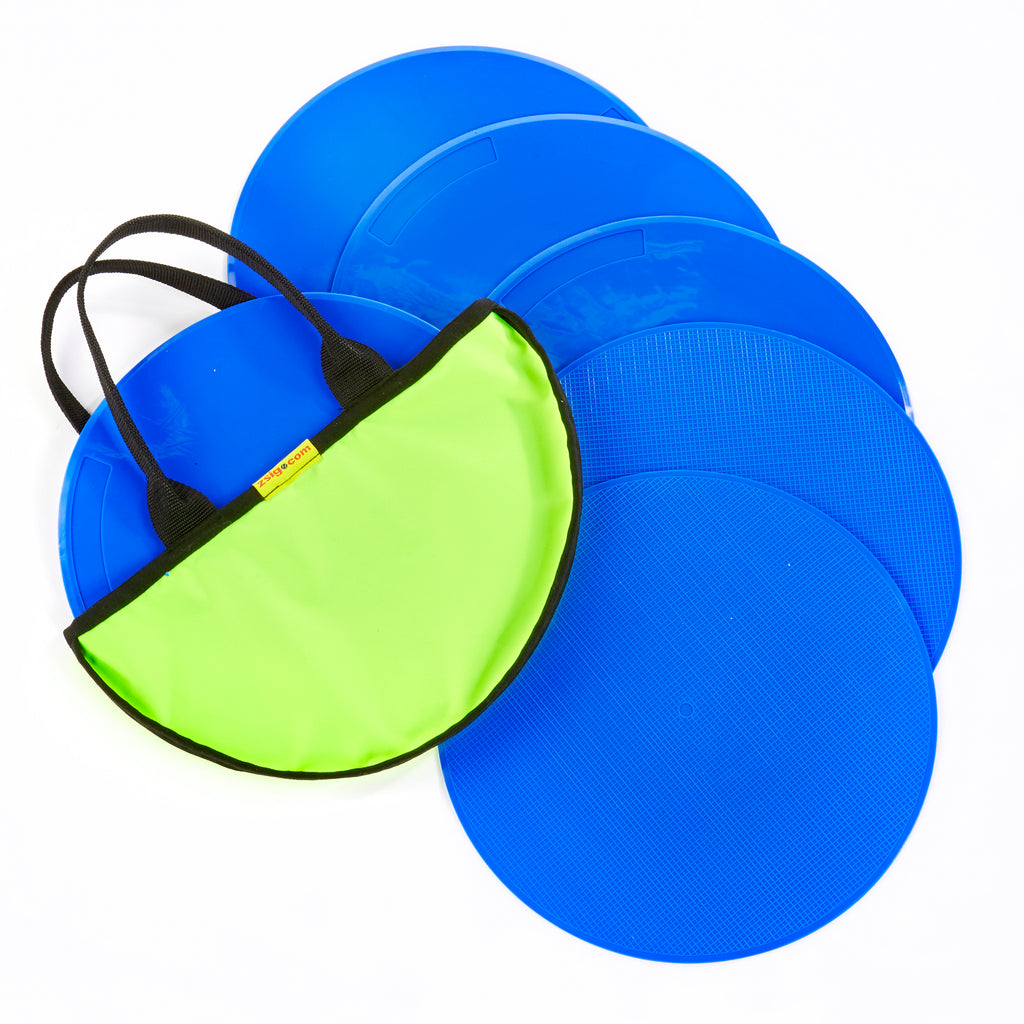 Throw Down Spots | 30cm Set of 6 | Blue