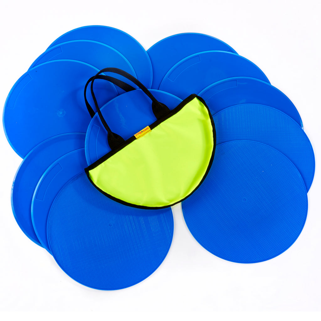 Throw Down Spots | 30cm Set of 12 | Blue