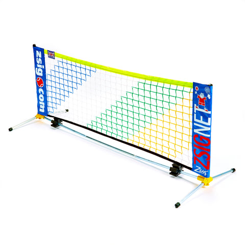 Early Years 1.8m Mini Tennis Net with limited edition rainbow netting