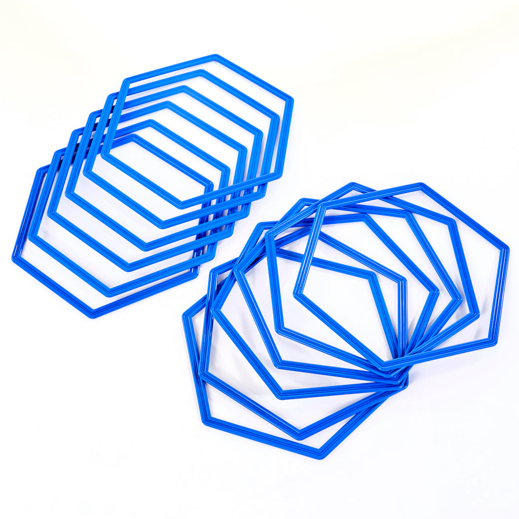 Hexahoops | Set of 12 | Blue