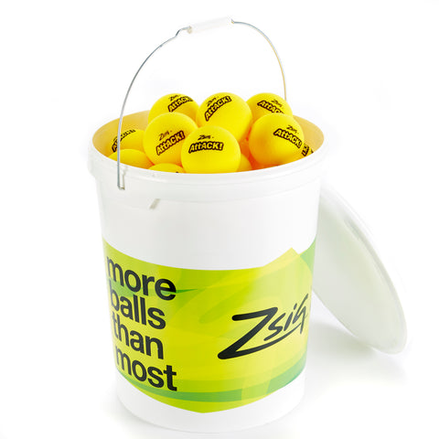 Zsig ATTACK cut foam touchtennis ball in a bucket of 48 balls