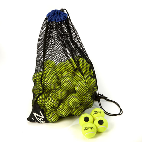 Tennis Training Balls. 5 dozen Zsig Black Dot yellow tennis ball.