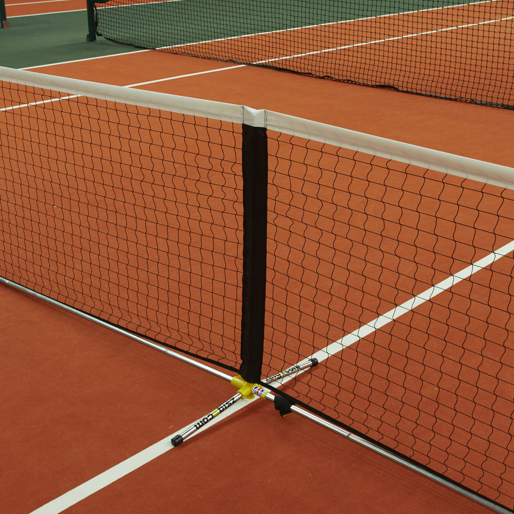 Tennis Net: full-size portable Zsignet 48 with centre post support.