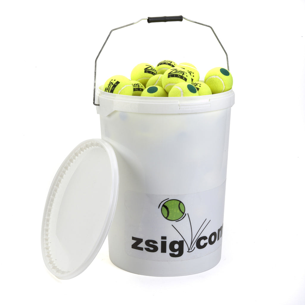 Green Dot Mini Tennis Balls. Bucket of 8 Dozen Balls