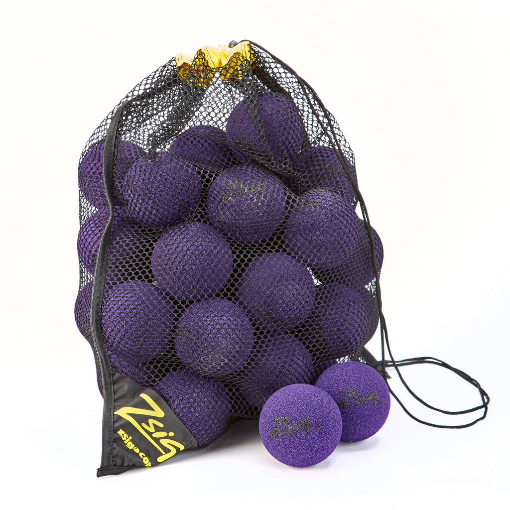 Zsig MP9 Tough Guy Bag of 48 9cm balls in Purple