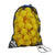 Zsig Matchplay 8 yellow cut foam Mini Tennis Balls in a handy 5-dozen drawstring carry bag