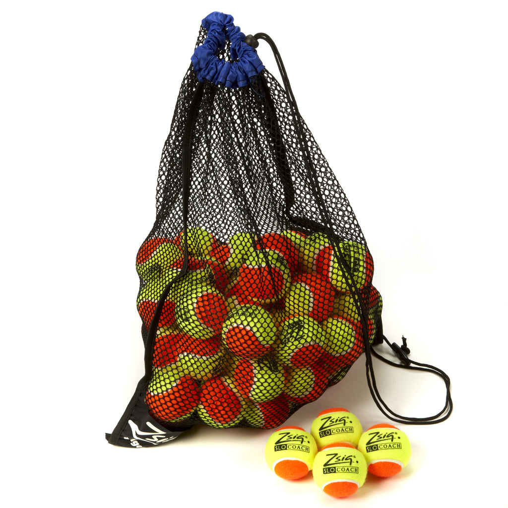 Orange Mini Tennis Balls. 5 dozen Zsig Slocoach Orange balls in a carry bag.