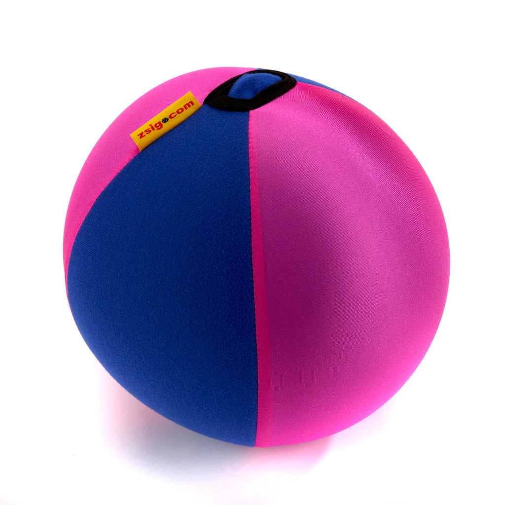 Balloon Ball. Superb coaching aid for young children. Stretchy washable cover turns ordinary balloons into a light, floaty ball - and no bursts.