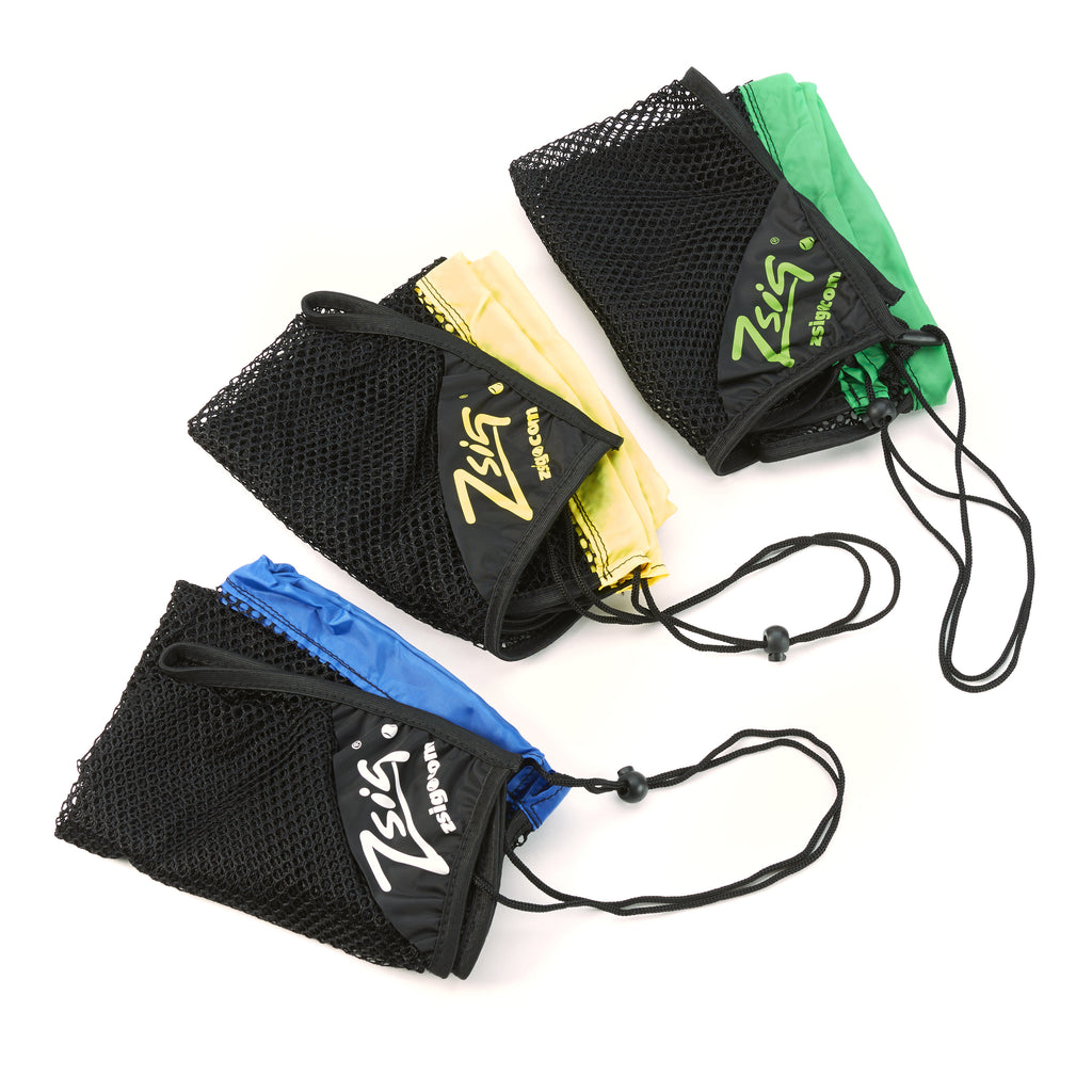 Tennis Ball 5-dozen ball drawstring carry bags. Blue, yellow and green colourway options.