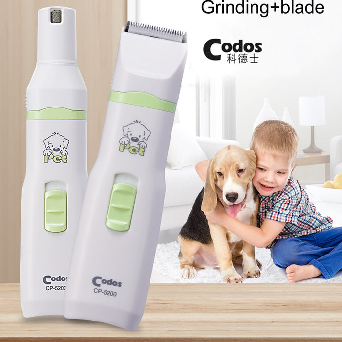 Hair Trimmer and Nail Grinder for Cats and Dogs