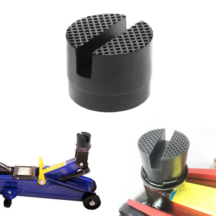 Car Rubber Jack Pad Frame Protector Adapter Jacking Disk Pad Tool Floor Slotted For Pinch Weld Side Lifting Disk Car Accessories