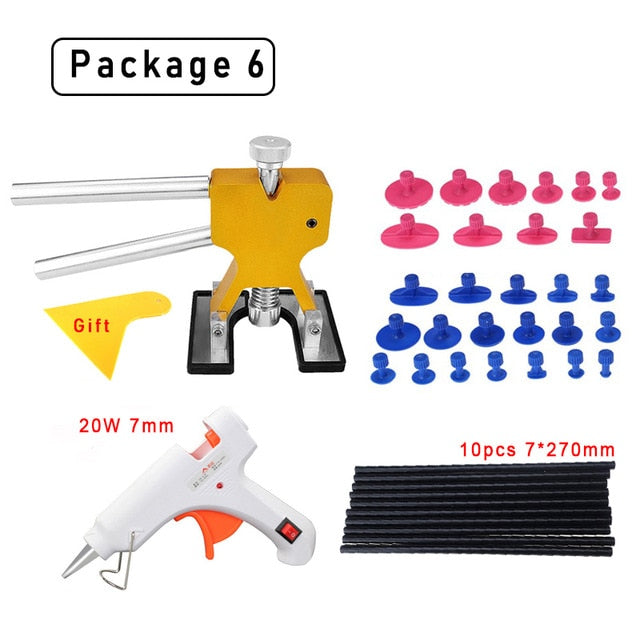 PDR tools paintless dent repair tools Dent Repair Kit Car Dent Puller with Glue Puller Tabs Removal Kits for Vehicle Car Auto