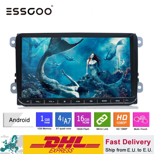 Essgoo Android 9'' / 7'' Car Multimedia Player GPS Navigation 2 din Autoradio 2din Stereo MP5 Car Radio For Volkswagen Universal