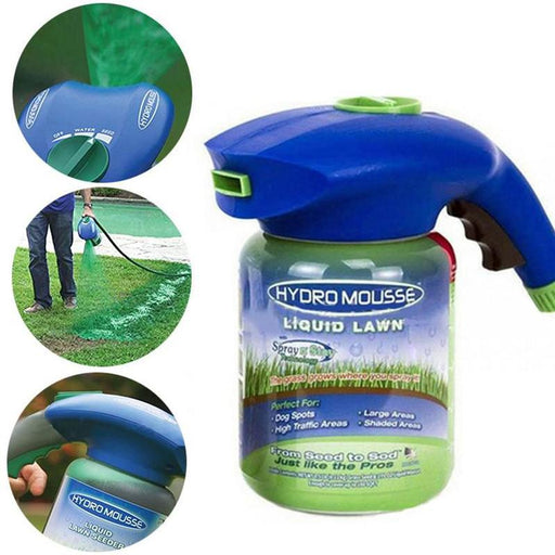 1pcs New Household Seeding System Liquid Spray Seed Lawn Care Grass Shot Household potted plastic watering can