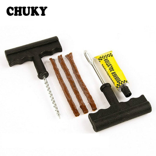 CHUKY 1Set Professional Auto Car Tire Repair Tool Kit For Audi a3 a4 b8 b7 b5 2017 Peugeot 206 307 308 508 3008 Fiat 500 Punto