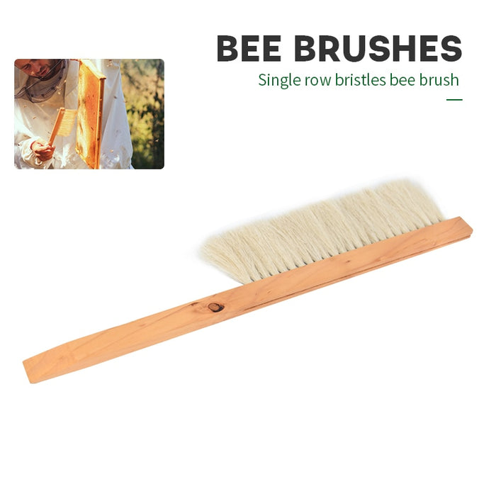 Brand 5PCS Single Rows Bristles Bee Brushes Beekeeping Tools Rows Horsetail Hair Brushes Beekeeping Equipment for Scraper