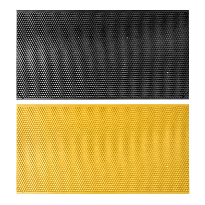 Bees Comb Honey Square Frame Plastic Honeycomb Bee Wax Foundation Beehive Frames Base Sheets Black and Yellow