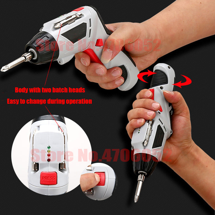 4.8V Electric Screwdriver Set Multifunctional Rechargeable Electric Hand Drill Household Cordless Drill With Carry Case