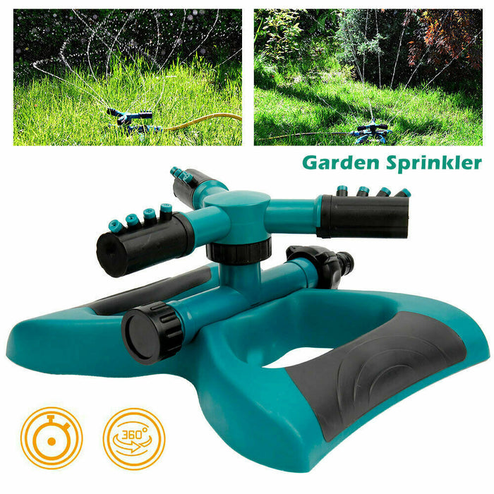 360°Fully Circle Rotating Water Sprinkler Irrigation System Grass Lawn Spray Metal mpulse Sprinkler or Garden Lawn Watering