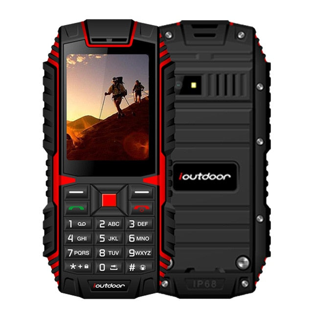 "ioutdoor T1 2G Feature Rugged Phone IP68 Shockproof Mobile Phone 2.4"" 128M+32M GSM 2MP Back Camera FM Telefon Celular 2G 2100mAh"
