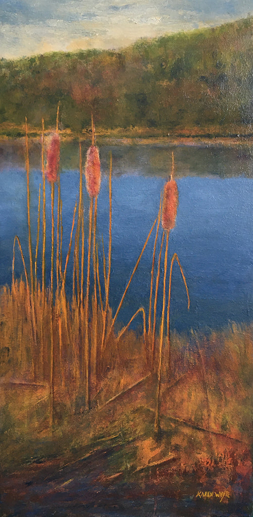 karen whyte ~ October Cattails