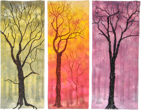 phillida hargreaves ~ Red Oaks (triptych)
