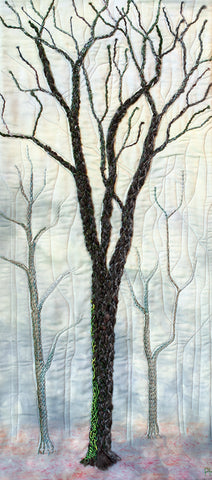phillida hargreaves ~ Red Oak on Grey