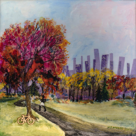 mary ann varley ~ City Park Bike Rider (sold)